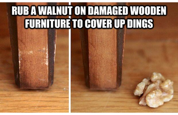Rub Walnuts on Wood to Restore It