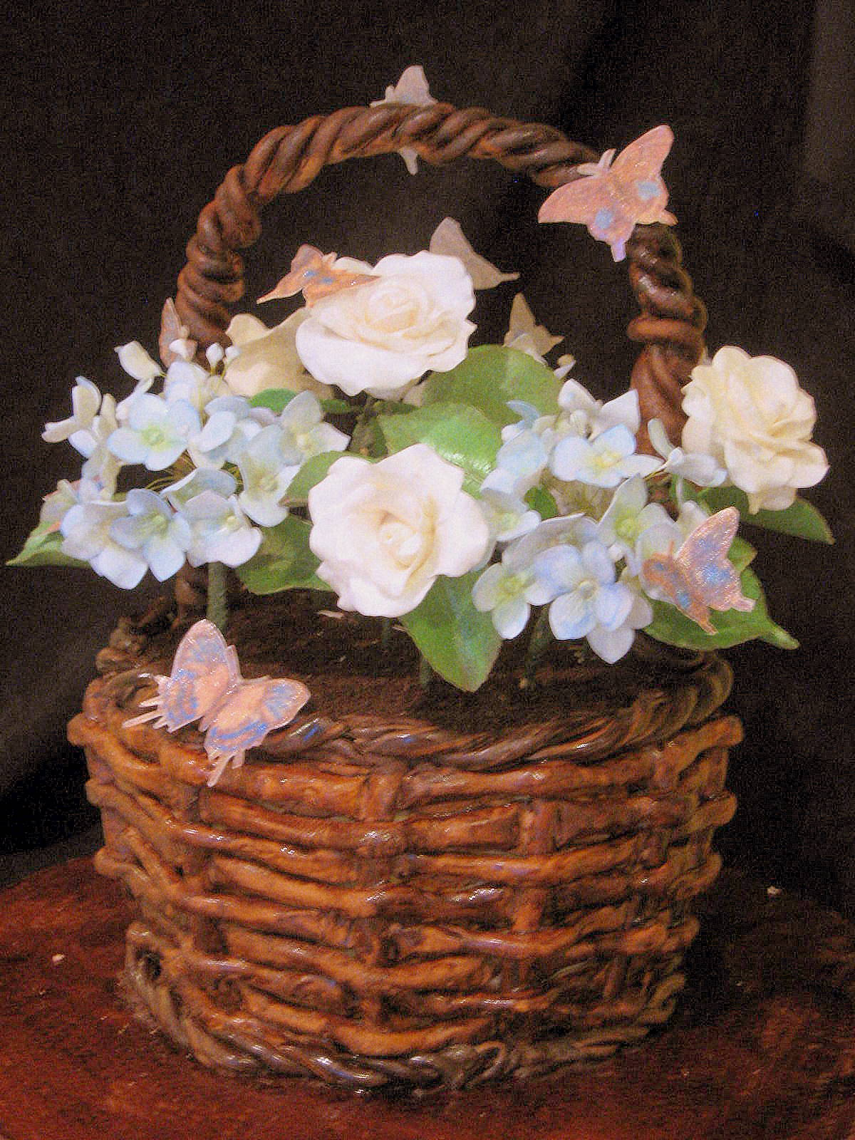 How To Make A Basket Of Flowers Cake : Wrapped couture what s a party without cake