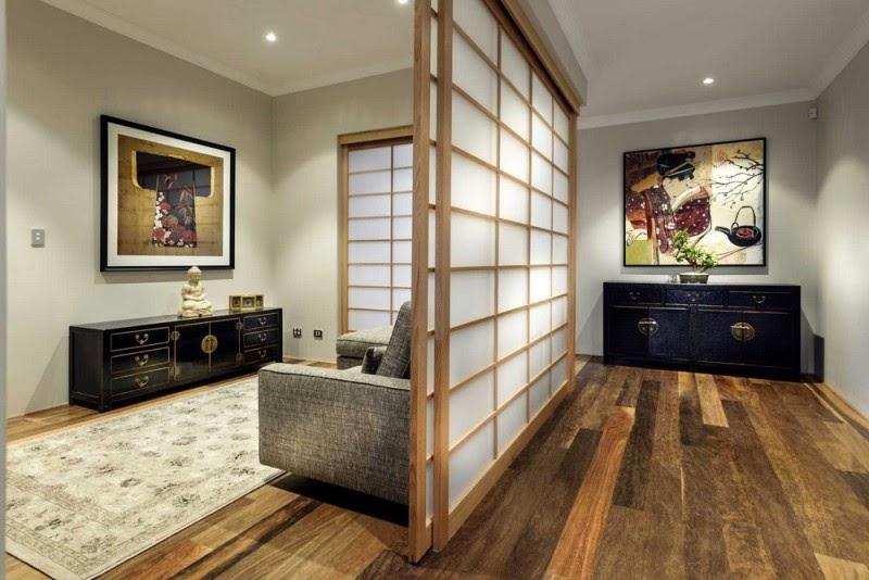 Japanese style Shoji separator of environments