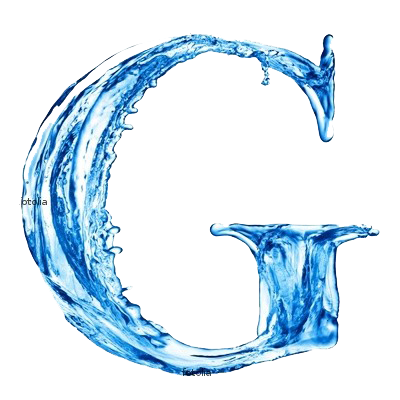 G Letter In Water Free Photo Edit...