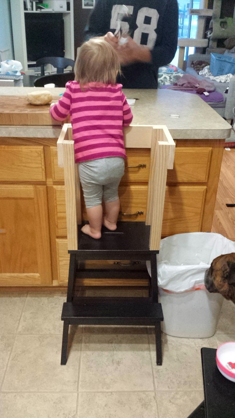 Toddler Kitchen Stool Custom Learning Tower For Toddlers Dads Who ...
