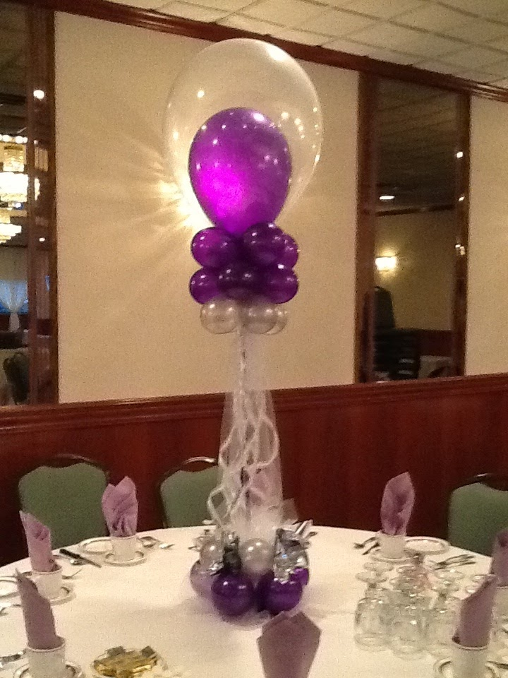A balloon creation inc sweet centerpiece