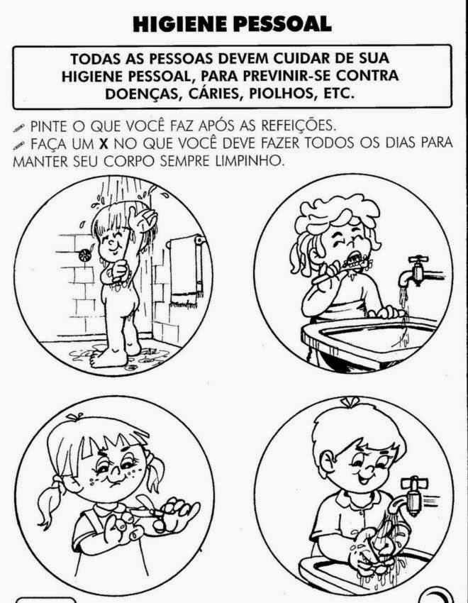 Populares Educar X: Atividades sobre higiene para educação infantil AG62