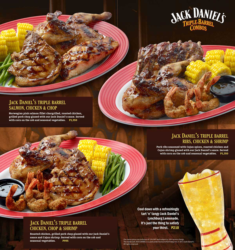 Menu for T.G.I. Friday's / TGIF Robinsons Place Manila. From the Grill Top. Their Steaks are % premium beef with the right balance of lean meat and tender marbling.