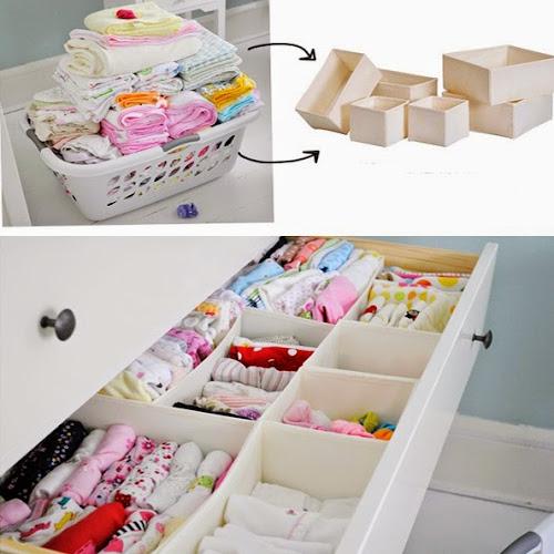 Dicas e truques para manter as roupas do bebê organizadas