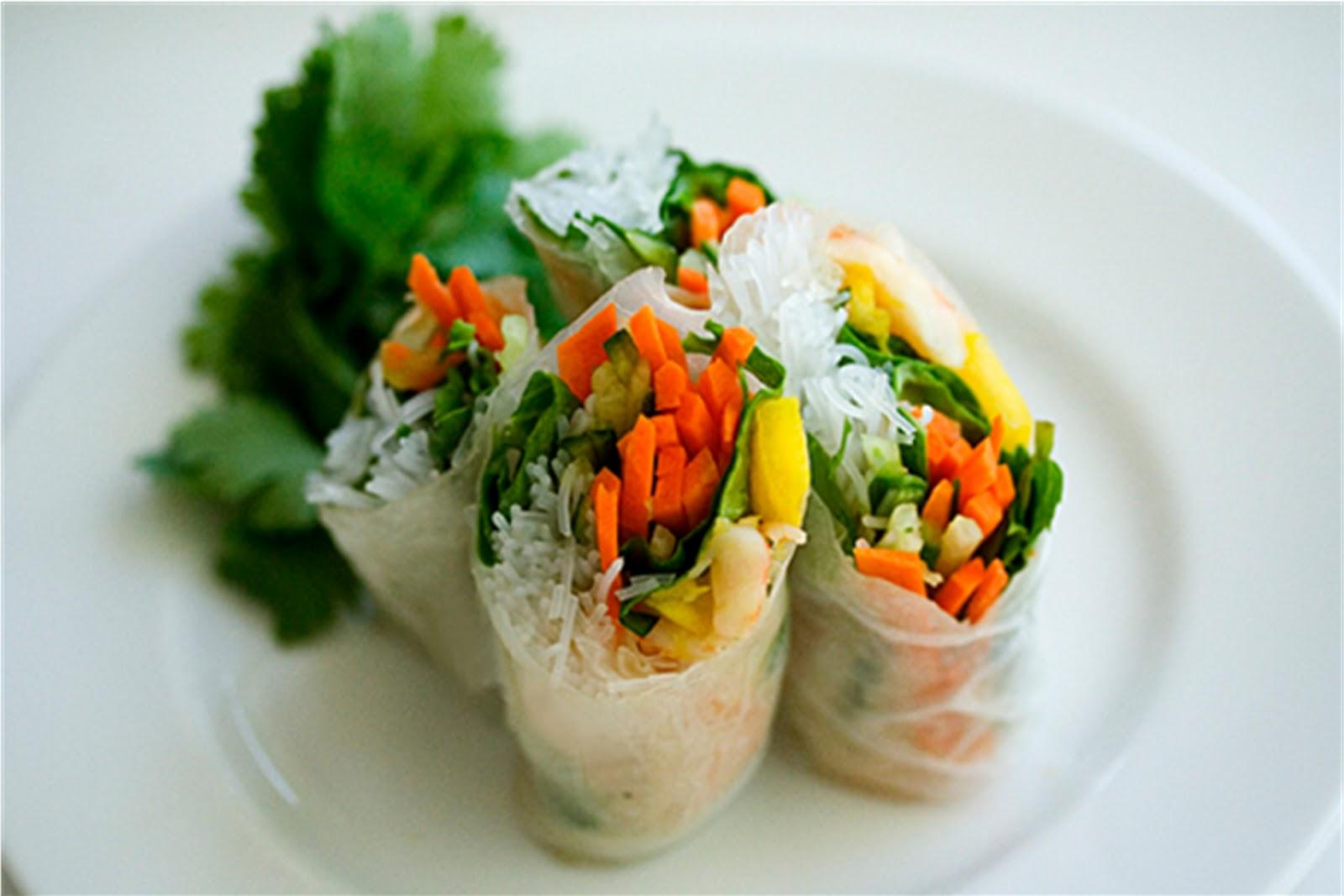 Shrimp And Mint Summer Rolls Recipes — Dishmaps