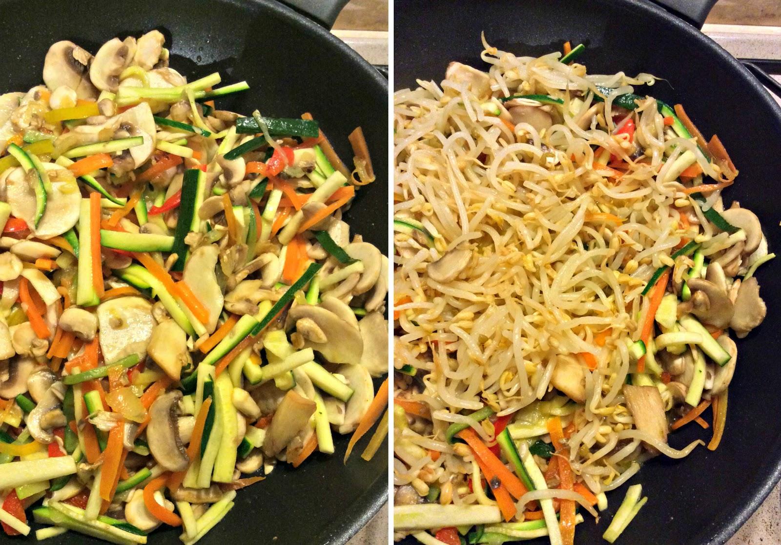 Spaghetti di soia con funghi e verdure la cina nella for Lecitina di soia in cucina