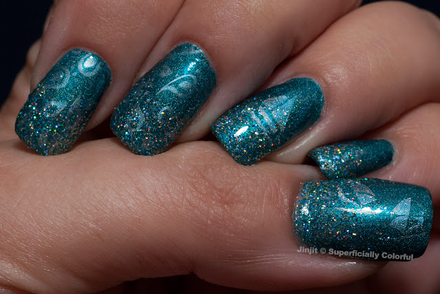 China Glaze Techno Teal Nail Venturous Well Holo There!