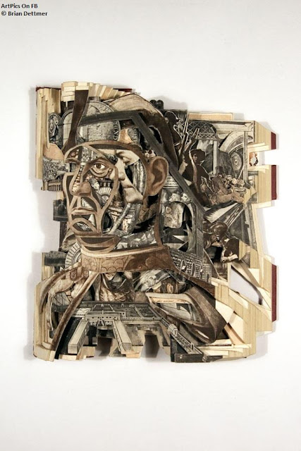 Brian Dettmer Artpics : Books Sculpture