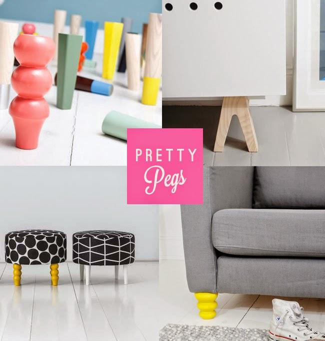 Pretty Pegs - Ikea Table Legs