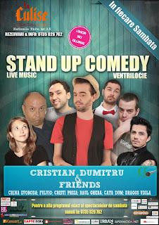 stand-up comedy sambata 30 noiembrie bucuersti