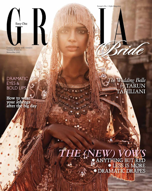 Model @ Monica Tomas - Grazia India, November 2015