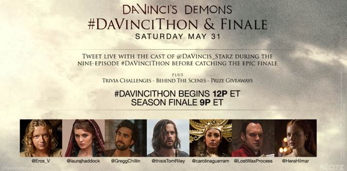 Da Vinci's Demons - Starz Hosting Global Twitter Takeover - Press Release