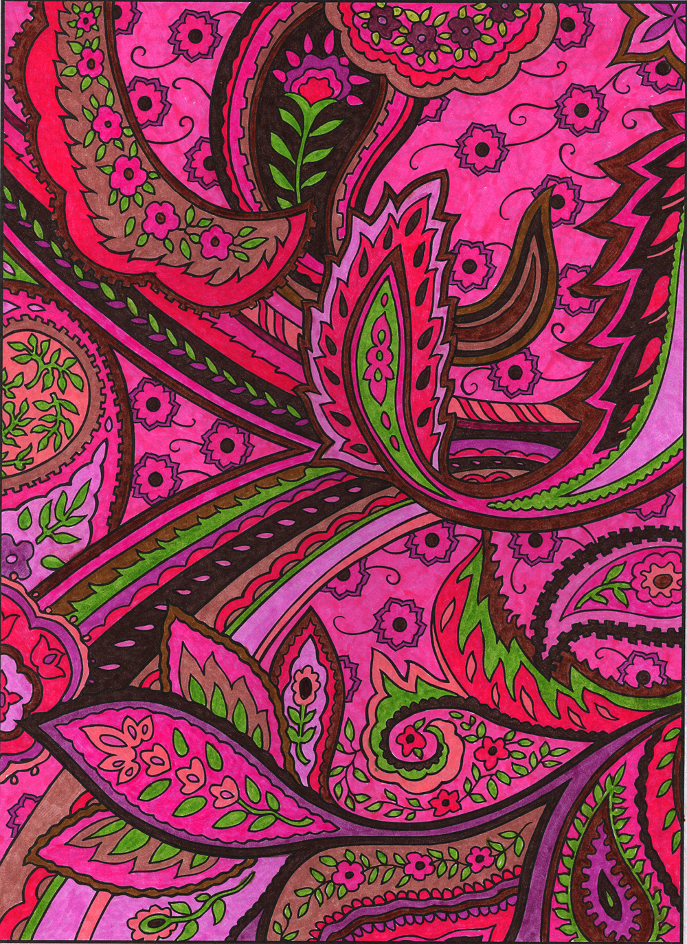 Paisley Designs By Marty Noble A Few More Images From This Coloring Book