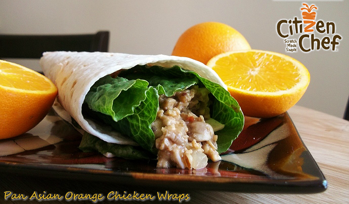 pan asian orange wraps