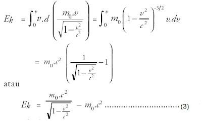 substitusi persamaan energi kinetik