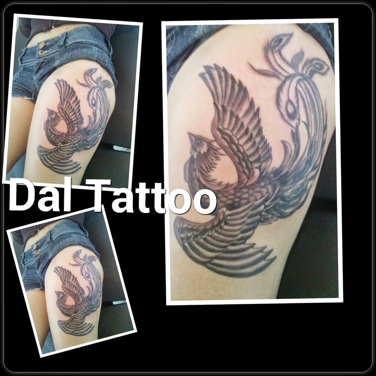 Preferência Dal Tattoo Studio: Tattoo feminina,tatuagem fenix ,tattoocoxa  IJ28