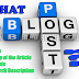 What is a Blog Post?