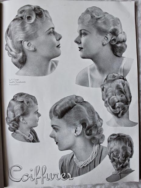 pin curl styles 1940 - va-voom