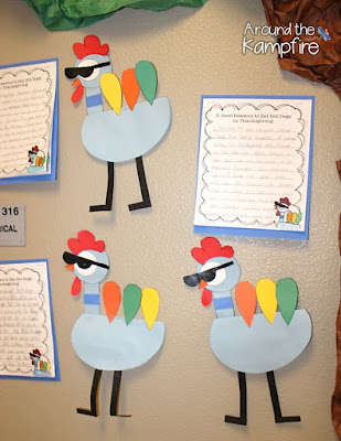 Thanksgiving persuasive writing~A twist on the Pigeon and disguise-a-turkey hallway display