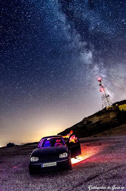 Vía Láctea sobre la cima de la Pandera en Valdepeñas de Jaén