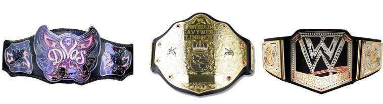 Estos son los títulos más reconocidos de la WWE entre los que se encuentran el campeonato de las divas, el campeonato de los estados unidos y el campeonato mundial pesado de la wwe