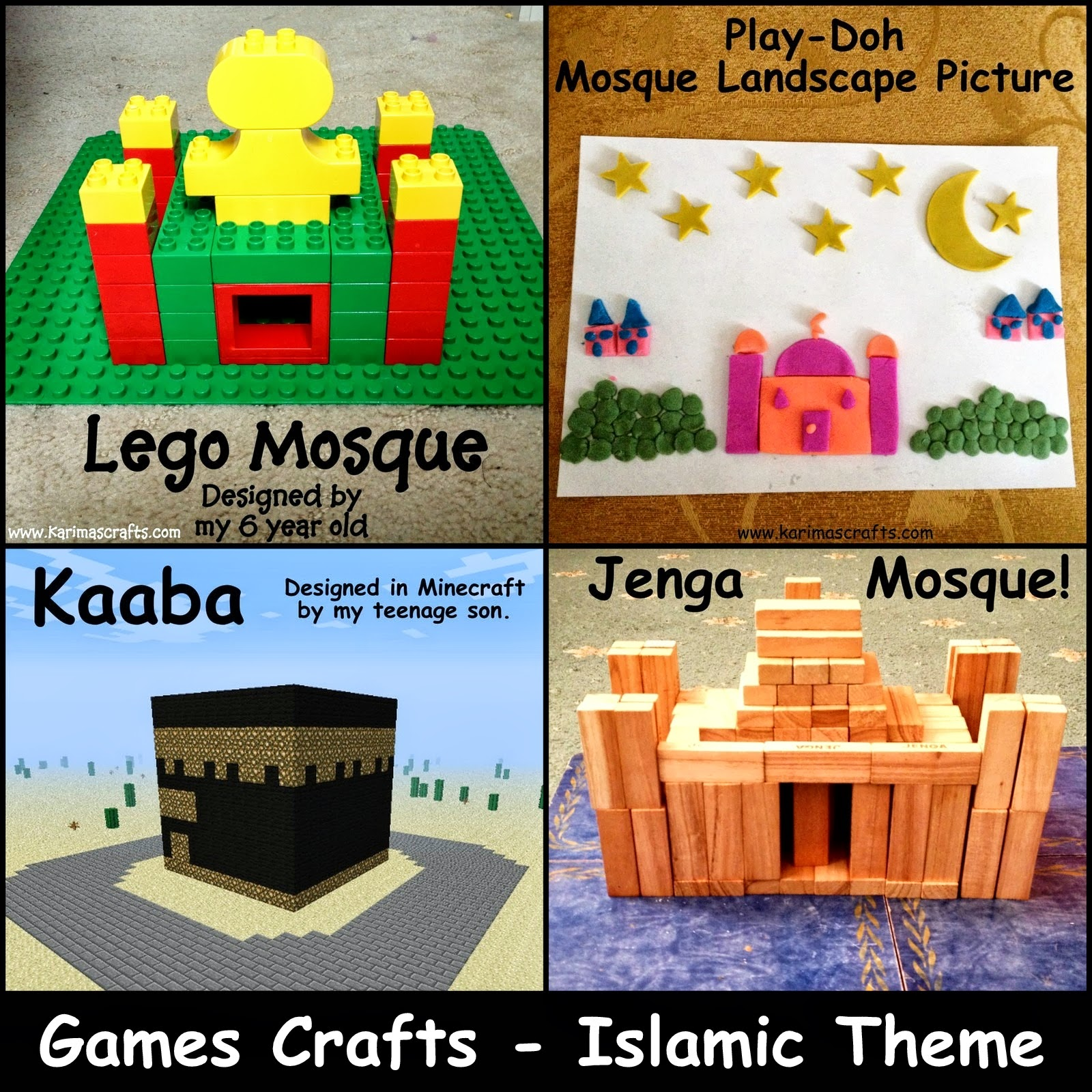 games crafts lego jenga play-doh minecraft ramadan crafts islam muslim