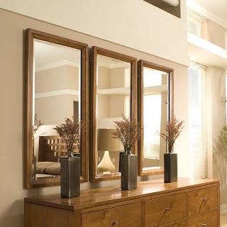 foto de espelho com moldura