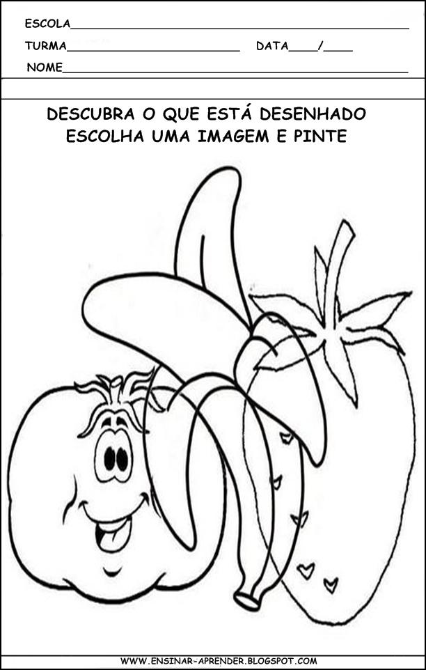 Muitas vezes Jardim da Tia Di♥: ATVIDADES PARA EDUCAÇÃO INFANTIL, FIGURA E  XS25