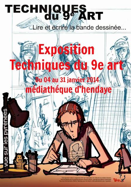Hendaye : Exposition Techniques du 9e art