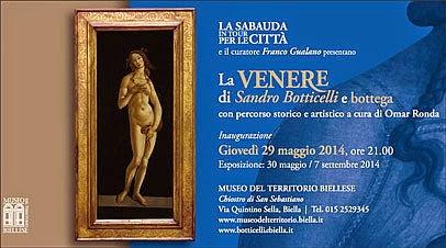 mostre nel weekend fuori Milano: la Venere di Botticelli al Museo del Territorio Biellese