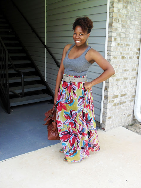 refashion refashioned maxi dress thrifted maxi skirt