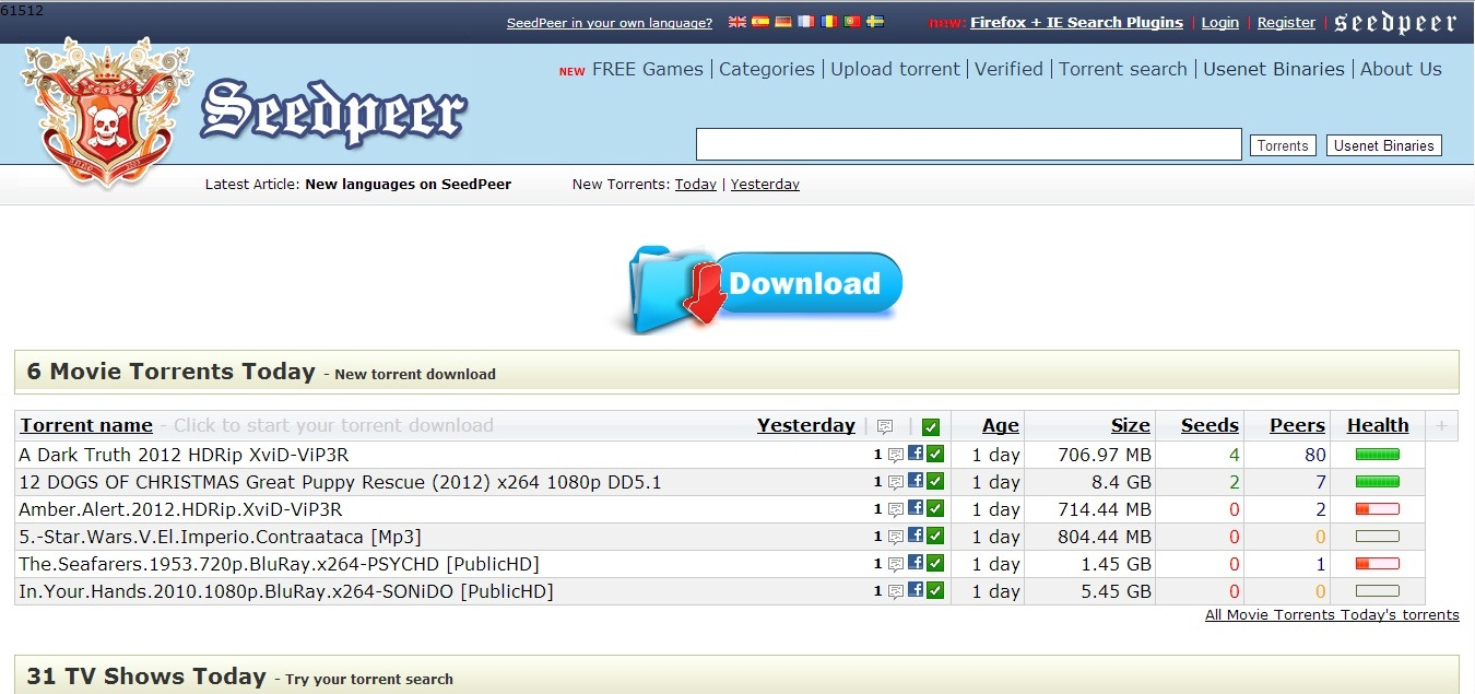 torrent link download sites for movies