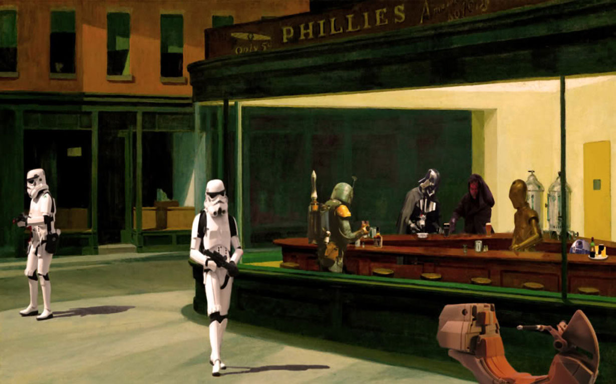 alepouda: Edward Hopper, Nighthawks