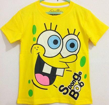 Baju Anak Karakter Spongebob Muka Size 7 - 10 Y