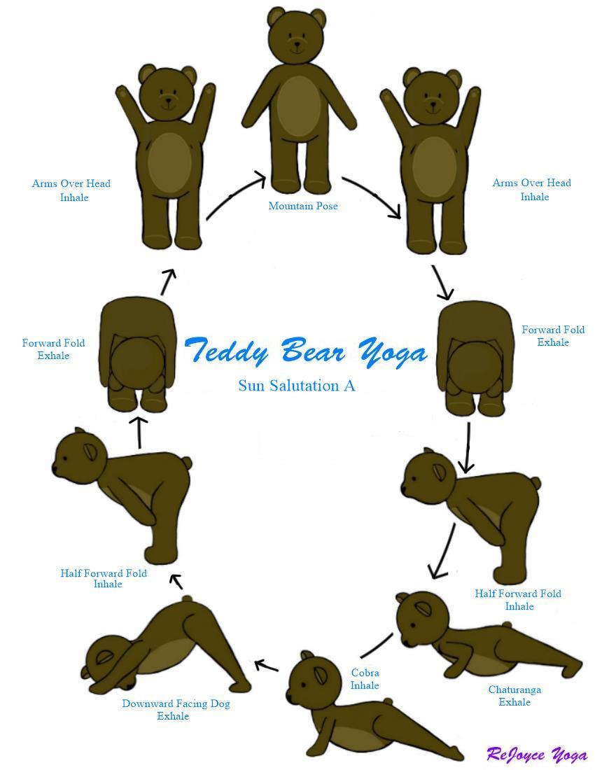 ReJoyce Yoga Cartoon Sun Salutation A