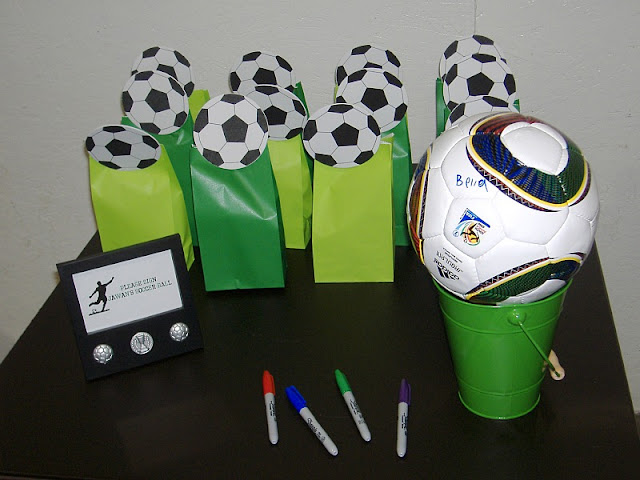 soccer party bag topper