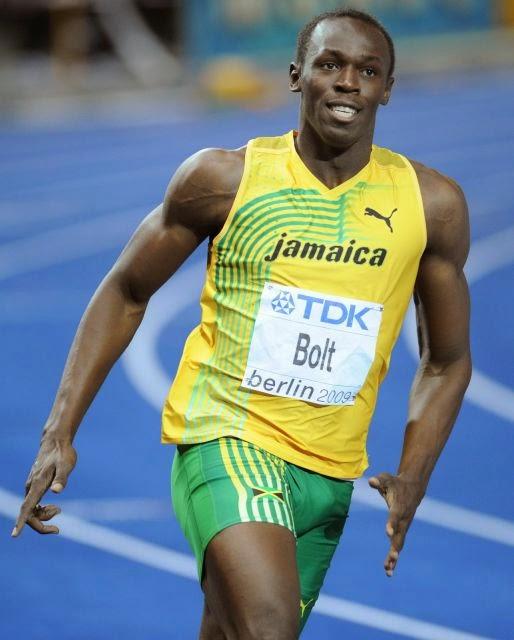 Usain Bolt correu 100 metros em 9,72 segundos
