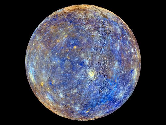 NASA divulga imagens do planeta Mercúrio