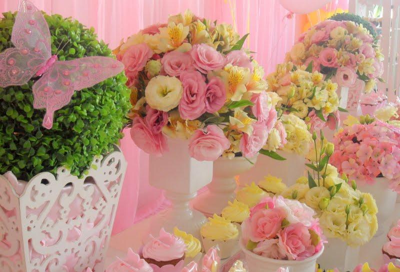 decoracao festa infantil azul e amarelo : decoracao festa infantil azul e amarelo:Festa Provençal – Site Oficial: Um Jardim rosa e amarelo para Gabi!!