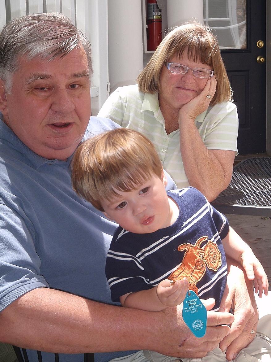 photo: Grandma Neeta and Grandpa Jeff arrived today