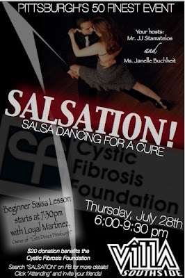 Pittsburgh's 50 Finest, Salsation, Salsa Dancing, Cystic Fibrosis Foundation