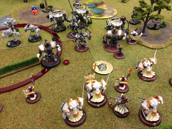Warmachine Vengeance tournament Menoth vs Cyriss