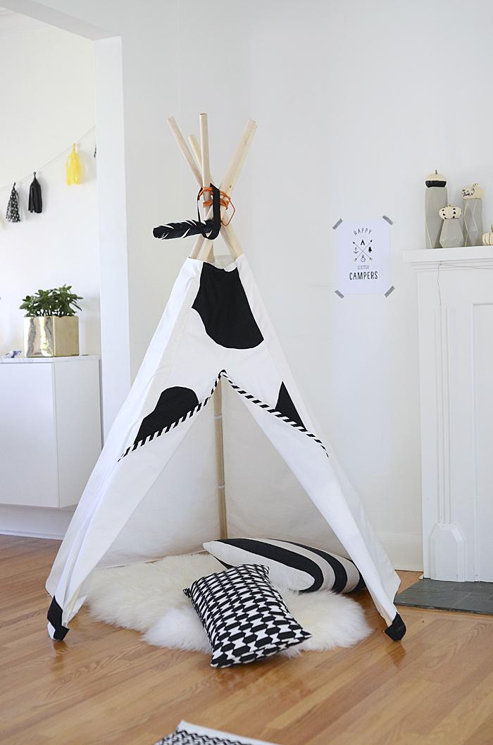 Kiedy mama nie śpi: DIY - 10 Pomysłów jak zrobić tipi?