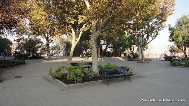 Praça no Cerro Santa Lucía