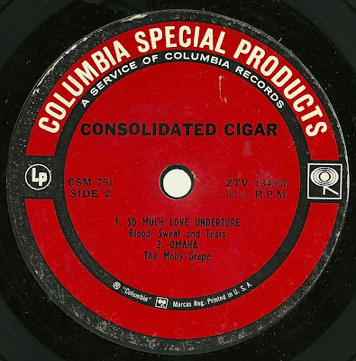 The Moby Grape - Omaha - Consolidated Cigar Promo EP