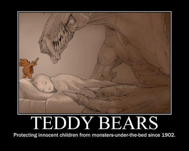 Teddy bear monster