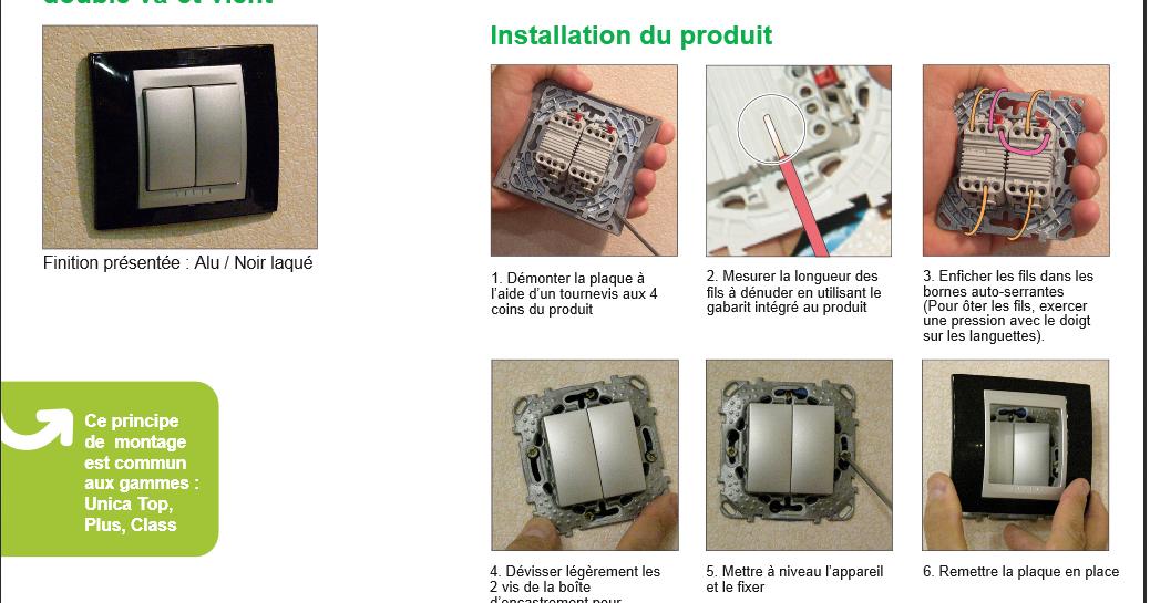 Schema electrique installation double va et vient schneider - Double interrupteur va et vient ...