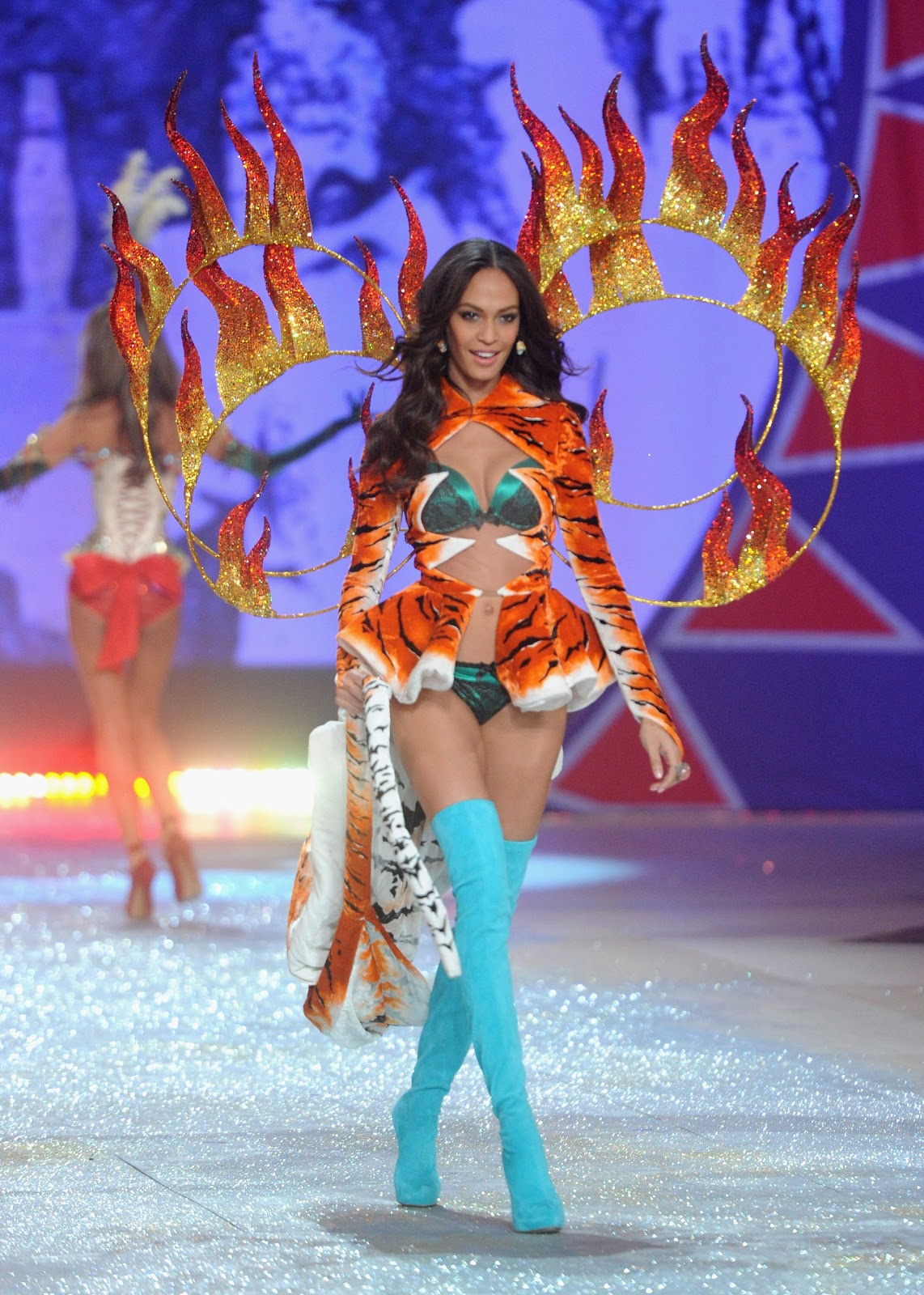 Joan Smalls at the 2012 Victoria's Secret Fashion Show Pics