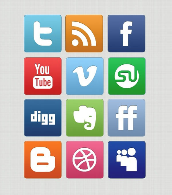 Free Slick and Clean Social Icons Set